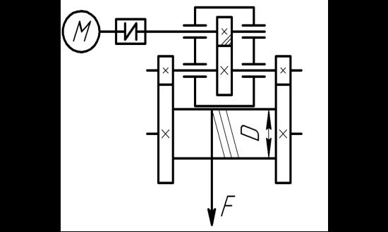 Привод электрической лебедки