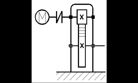Кинематическая схема привода для курсового проекта.