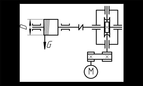 Привод электрической лебедки.